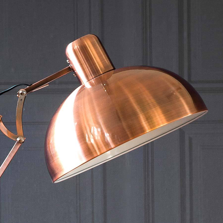 Copper Angled Floor Lamp Furnish Co Uk