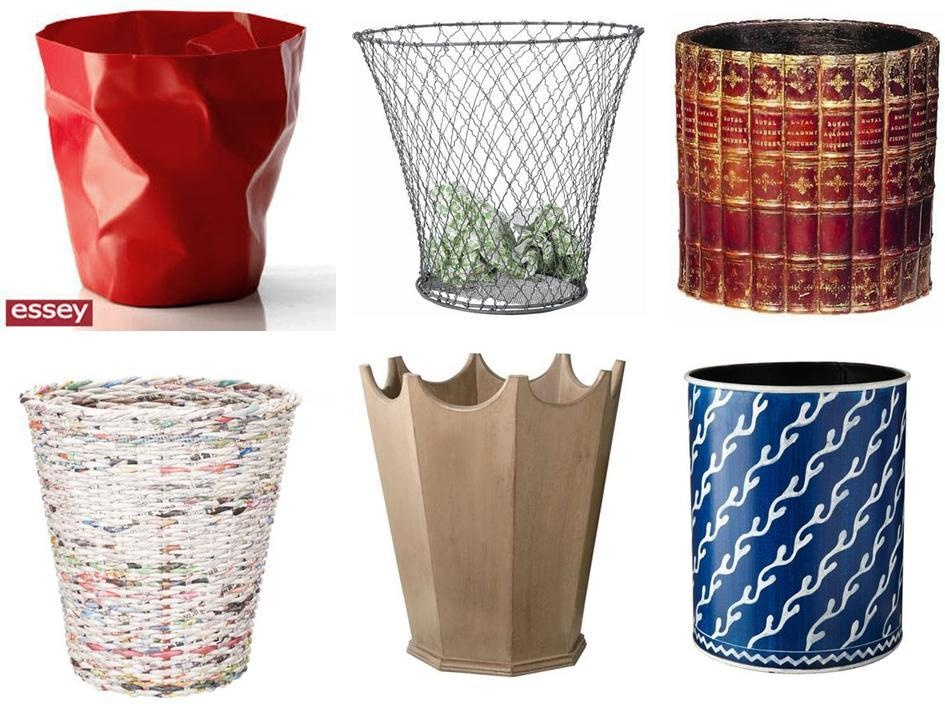 Decorative waste paper bins images for Decorative articles from waste materials