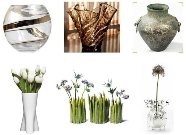vases and bowl