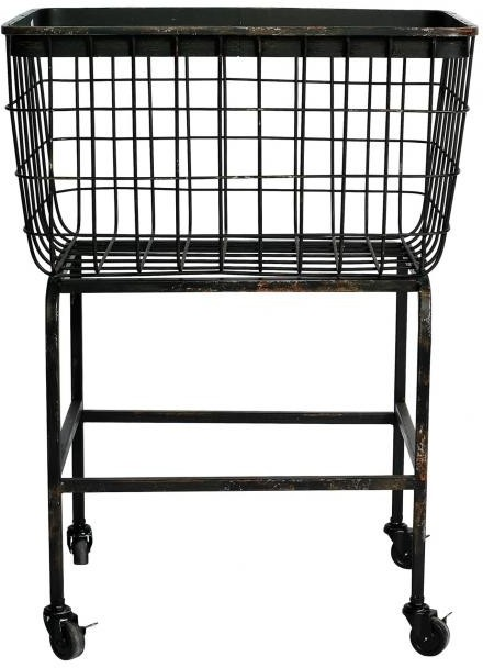 Wheeled Metal Basket Iron Mesh by Nordal Baskets and  : baskets and containers 2716505 from furnish.co.uk size 440 x 608 png 168kB