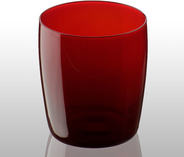 Midnight tumbler red glass bathroom tumblers for Bathroom tumbler