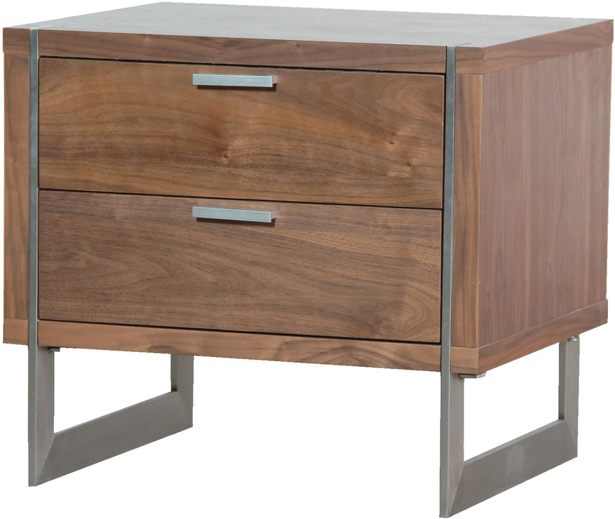 Two drawer walnut retro bedside table bedside tables - Bedside table ...