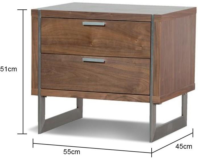 Two drawer walnut retro bedside table bedside tables two drawer walnut retro bedside table image 2 watchthetrailerfo
