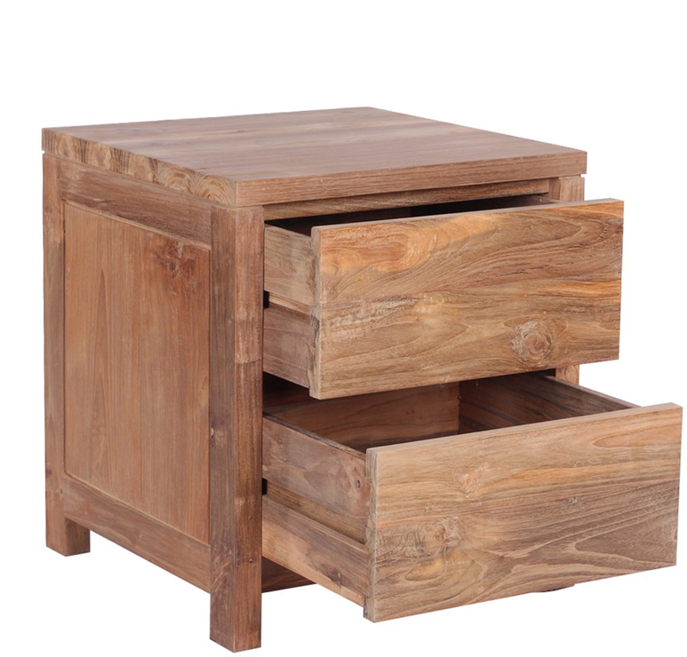 The U0027Prayau0027 Reclaimed Teak Wood Bedside Table Image 2