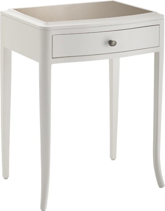 Maxton 1 Drawer Bedside Table Off White Antique Style Bedside Tables