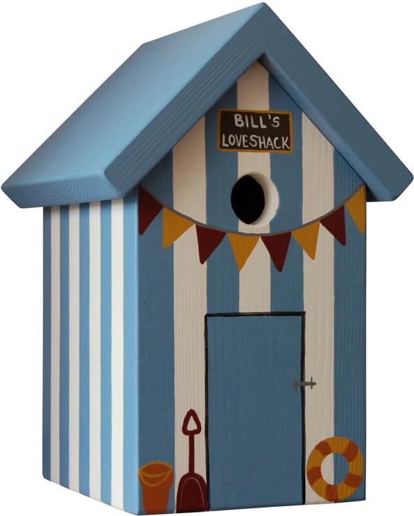 Handmade Beach Hut Bird Box Birdhouses