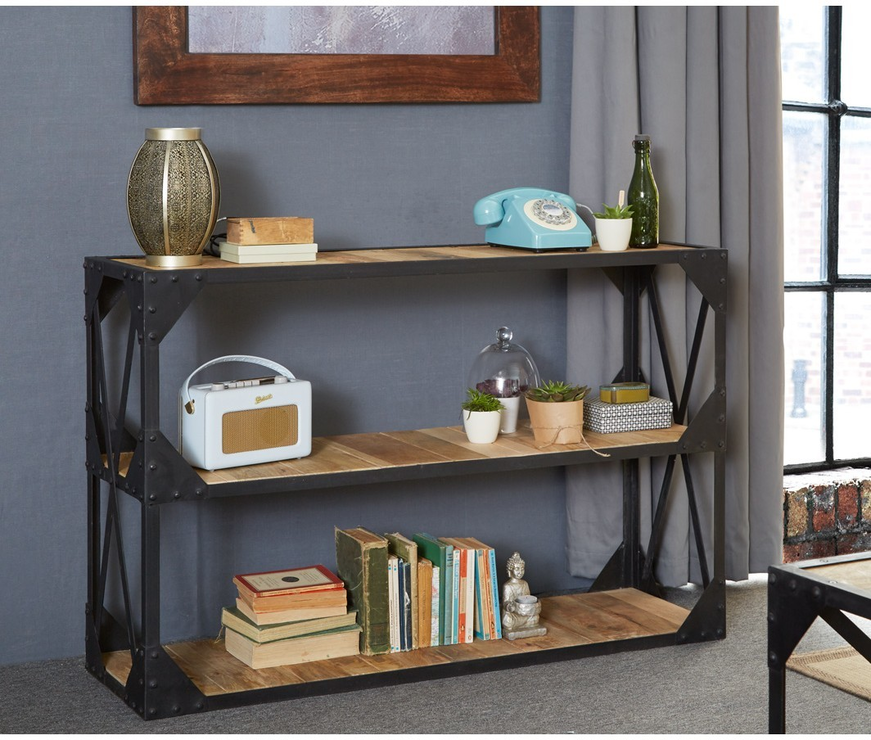 Industrial Tv Stand Sofa Console Table, Tv Stand Sofa Table