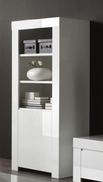 Rimini Collection Small Bookcase - Gloss White