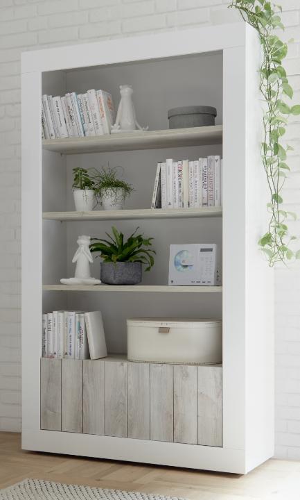 Como Two Door/Four Shelf Bookcase