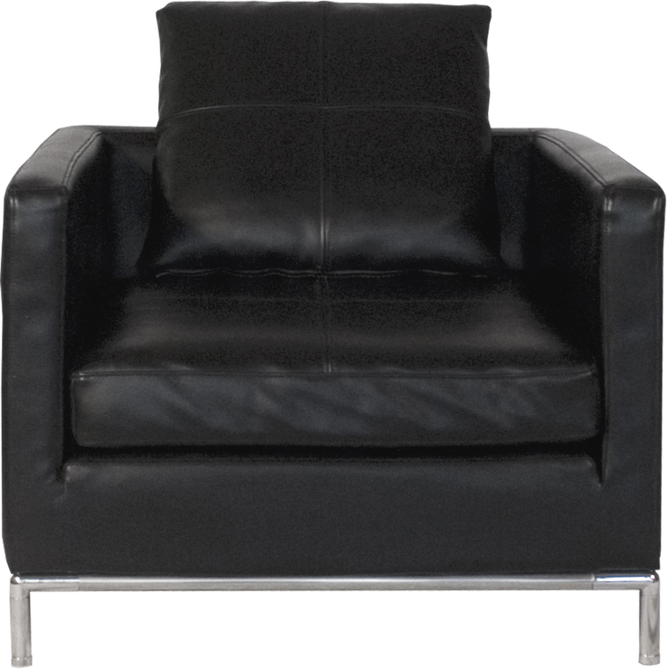 Modern black real leather boffi armchair chairs