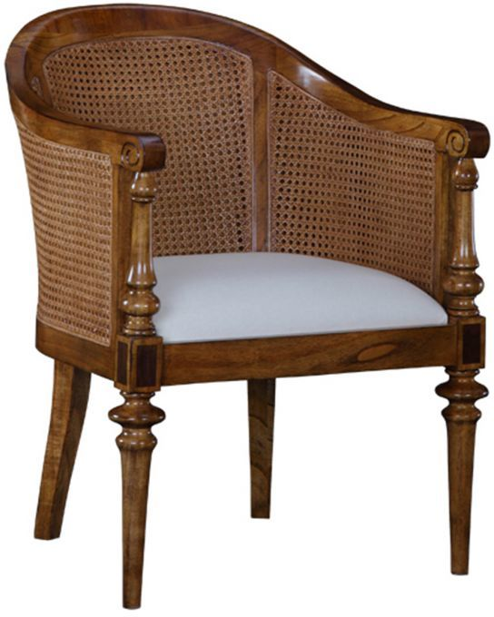 Spire Vintage Walnut Wooden Bedroom Chair
