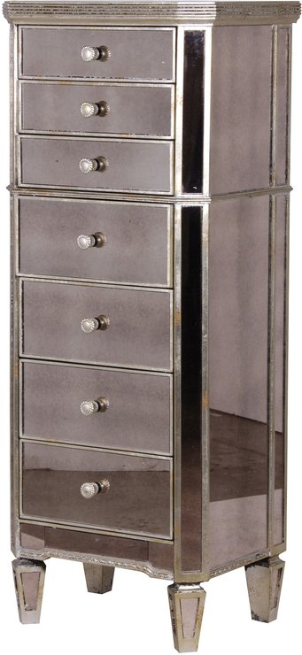 slim venetian tallboy chest of drawers mirrored finish bedroom chests of drawers. Black Bedroom Furniture Sets. Home Design Ideas