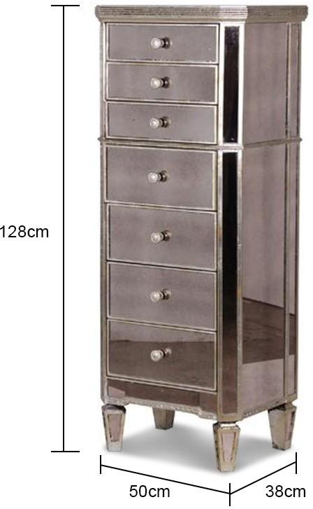 Slim bedroom drawers