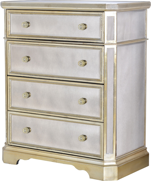 Tall venetian chest with silver trim bedroom chests of