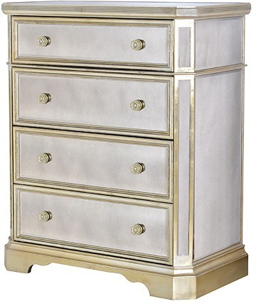 Tall Venetian Chest With Silver Trim Bedroom Chests Of Drawers