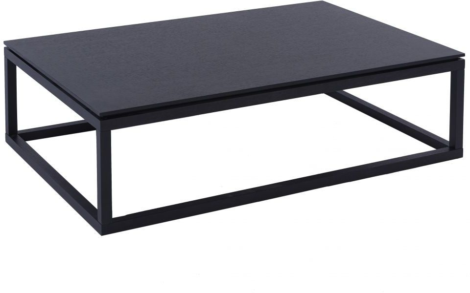 Cordoba Rectangular Coffee Table Modern Black Wenge Finish Coffee Tables