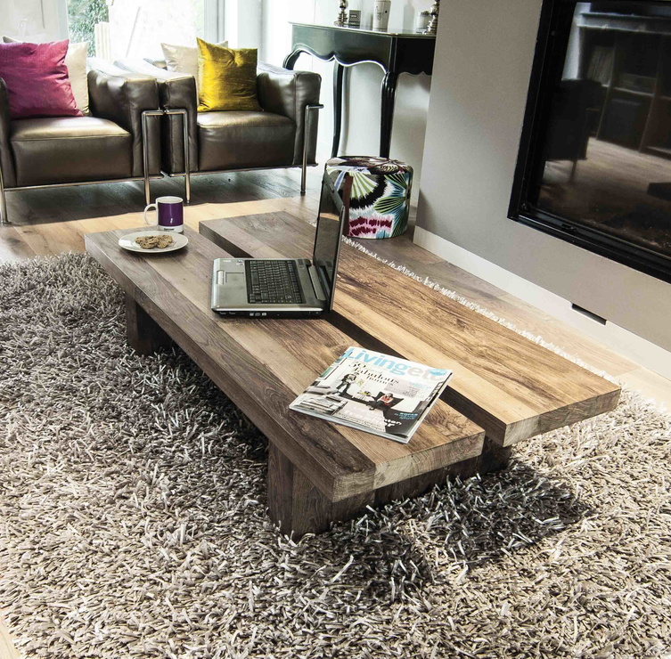 Salvaged Wood Coffee Table ~ Rinjani reclaimed wood coffee table tables