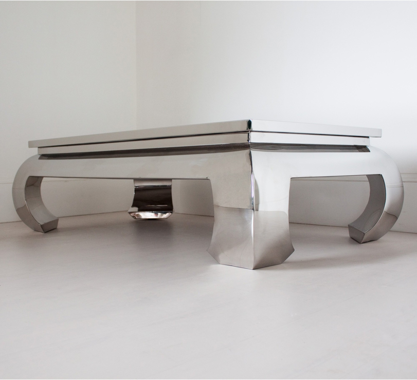 Chunky Metallic Coffee Table Rectangular Coffee Tables