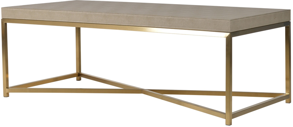 Faux Ostrich Leather Coffee Table Contemporary Stainless Steel Frame Coffee Tables