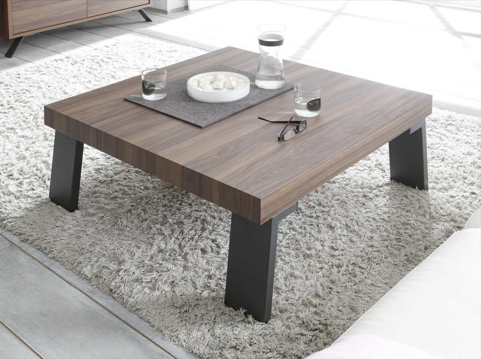 Palma Coffee Table  Walnut Finish  Coffee tables -> Table Basse Moderne Rectangulaire