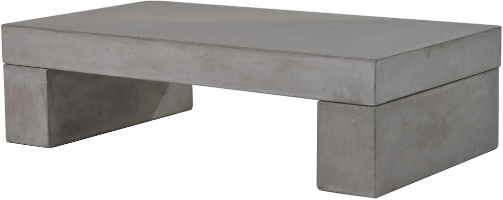 Rectangular Concrete Coffee Table Coffee Tables - Rectangular concrete coffee table