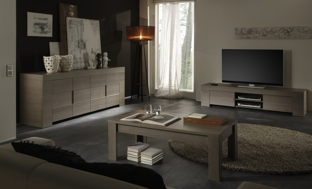 Fano coffee table rovere oak finish coffee tables - Table a manger taupe ...