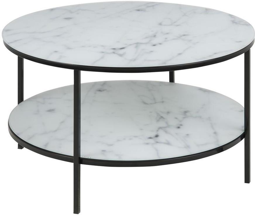 Alismar Round Coffee Table With Shelf