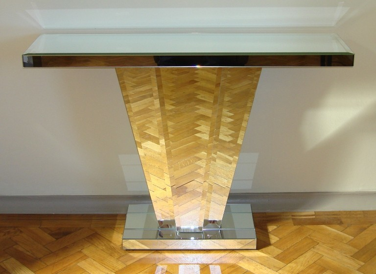 Venetian Mirrored Fan Console Table Art Deco | Console tables