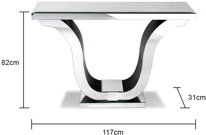 Venetian Mirrored Harp Console Table Art Deco Image 2