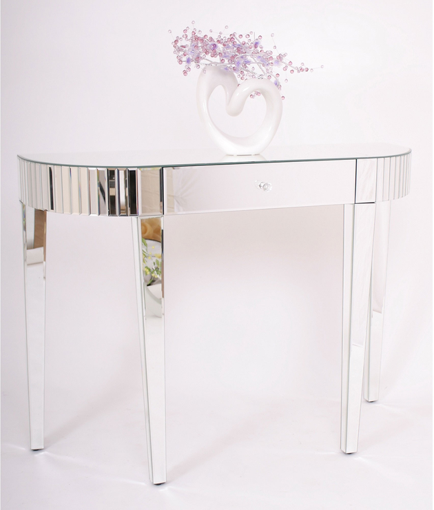 Bevel Edged Mirrored Console Console tables