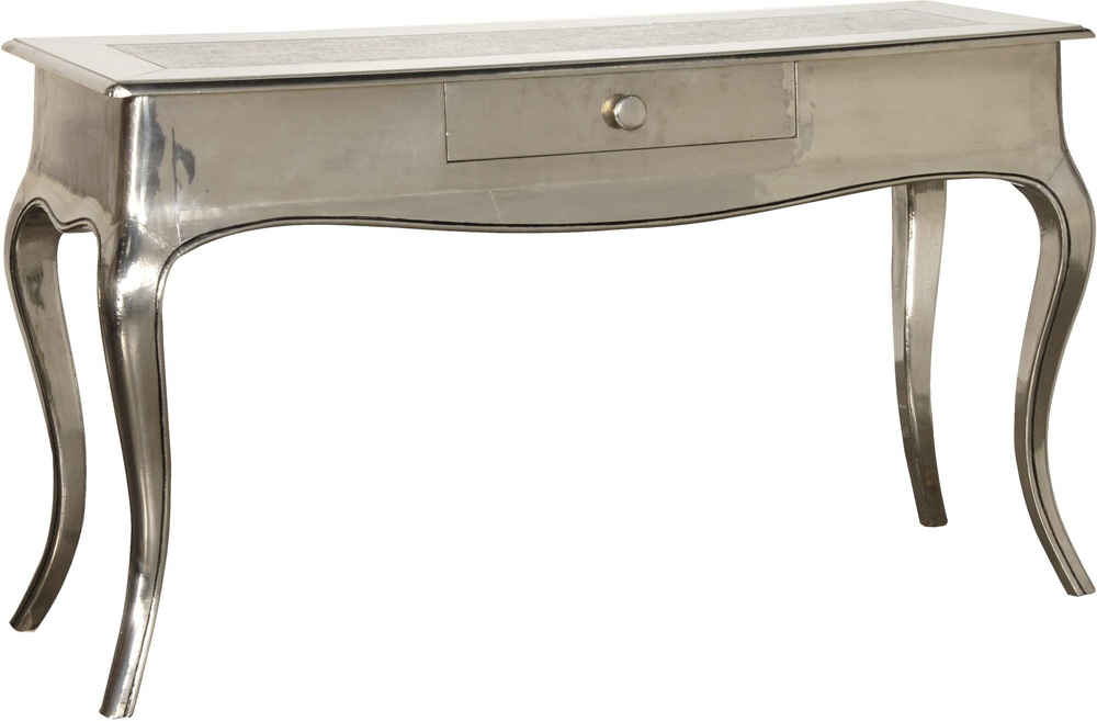 Shiny Silver French Console Table Console Tables