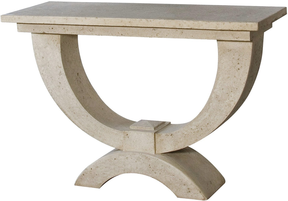 Stone effect roman console table console tables - Menzzo table console ...