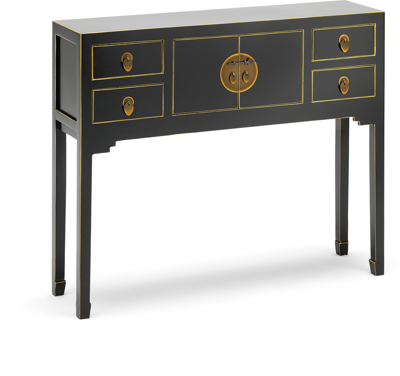581cf434edc28 Small Classic Chinese Console Table - Black image 4. Previous Next. CLICK  TO ENLARGE
