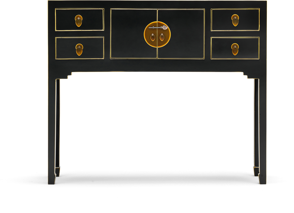 Small Classic Chinese Console Table   Black Image 2
