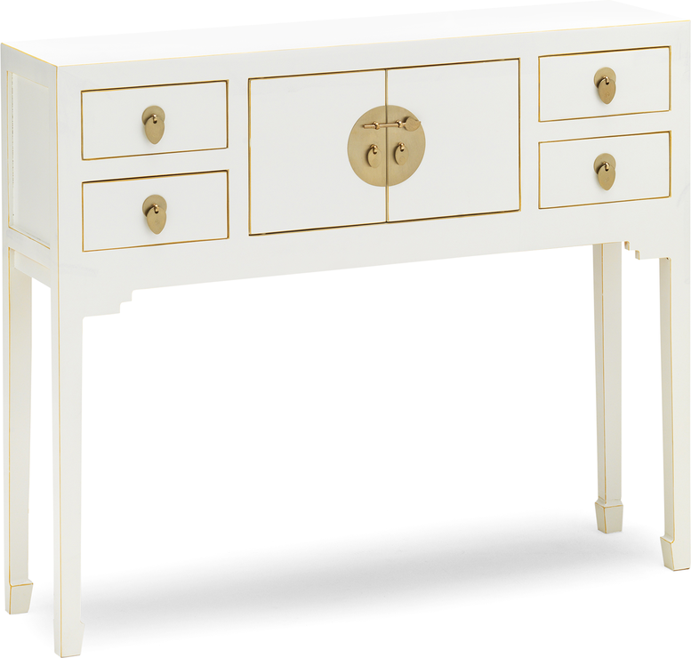 Small White Chinese Console Table