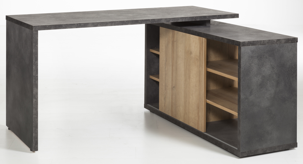 asti corner desk with storage oak and grey finish office desks rh furnish co uk corner desk with storage for small spaces corner desks with storage bedroom