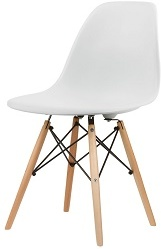 eames style dsw chair in white dining chairs