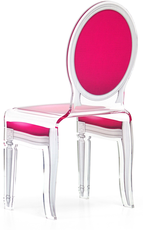 Acrylic Dining Chair Clear French Style Image 11