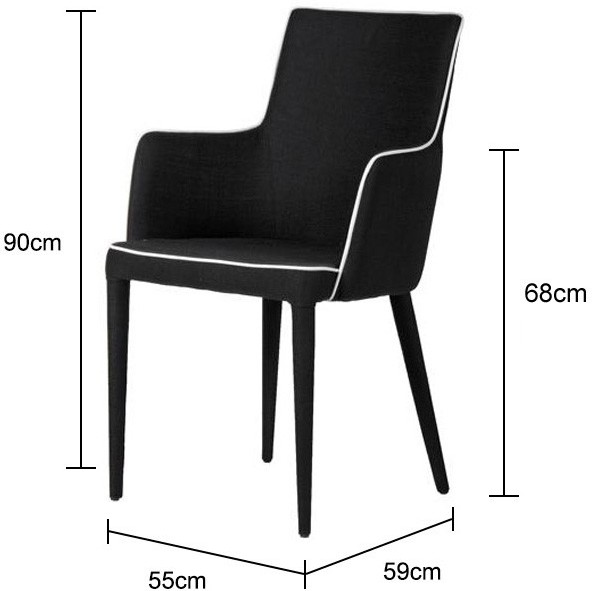 black and white upholstered dining chair dining chairs. Black Bedroom Furniture Sets. Home Design Ideas