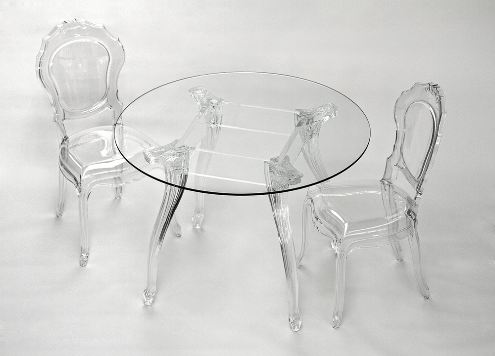 ameline acrylic chair transparent finish image 2