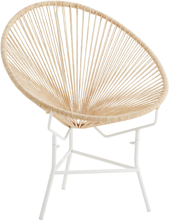 Jute String Ring Iron Chair