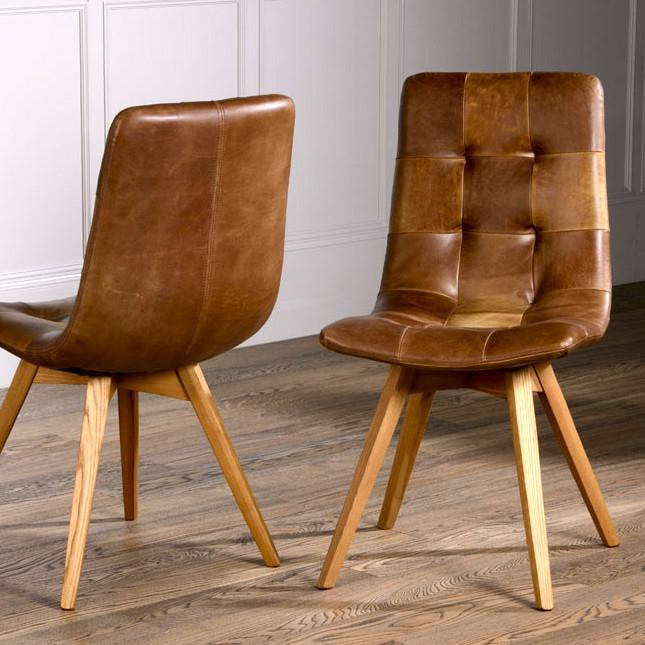 Allegro Brown Cerato Leather Dining, Brown Leather Dining Chair