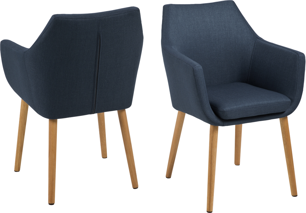 Nori Fabric Carver Chair Dining Chairs