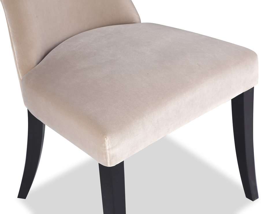 Beck Retro Velvet Dining Chair In Grey Or Mink Dining Chairs