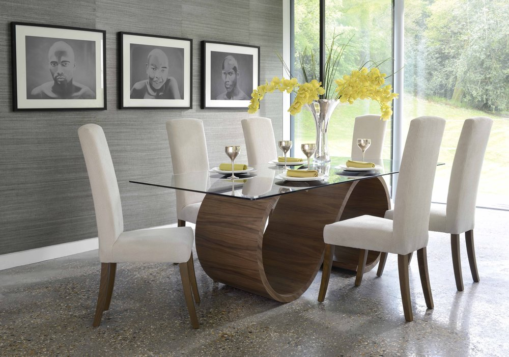 Tom schneider swirl dining table dining tables for Table et chaise moderne