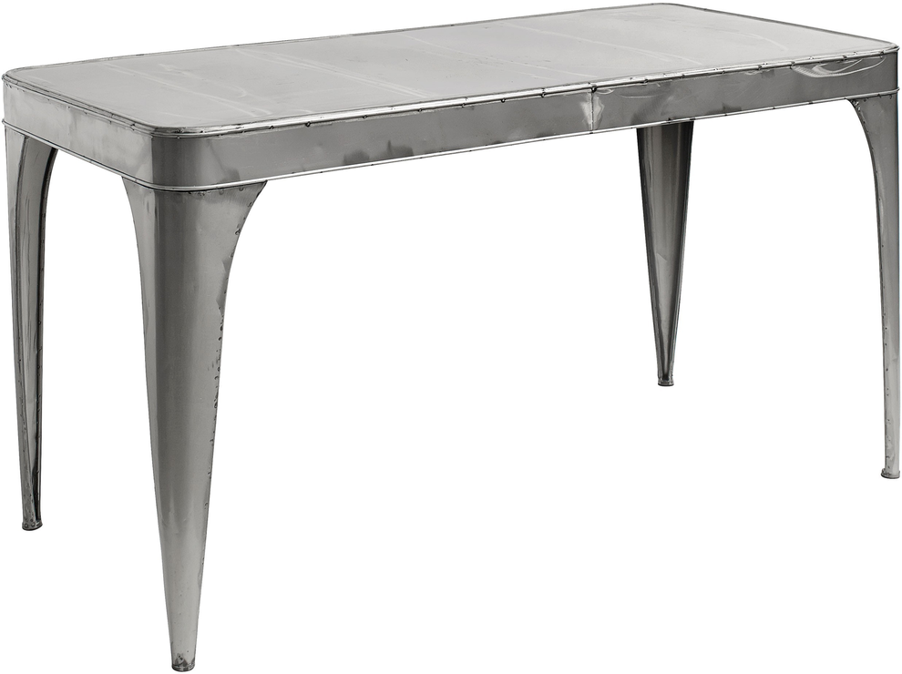 industrial metal dining table by nordal dining tables