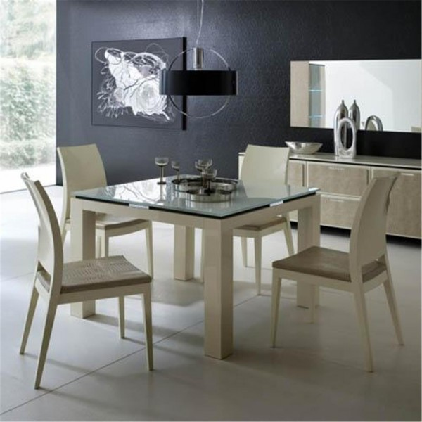 Diamond Square Extending Table Dining Table Image 2