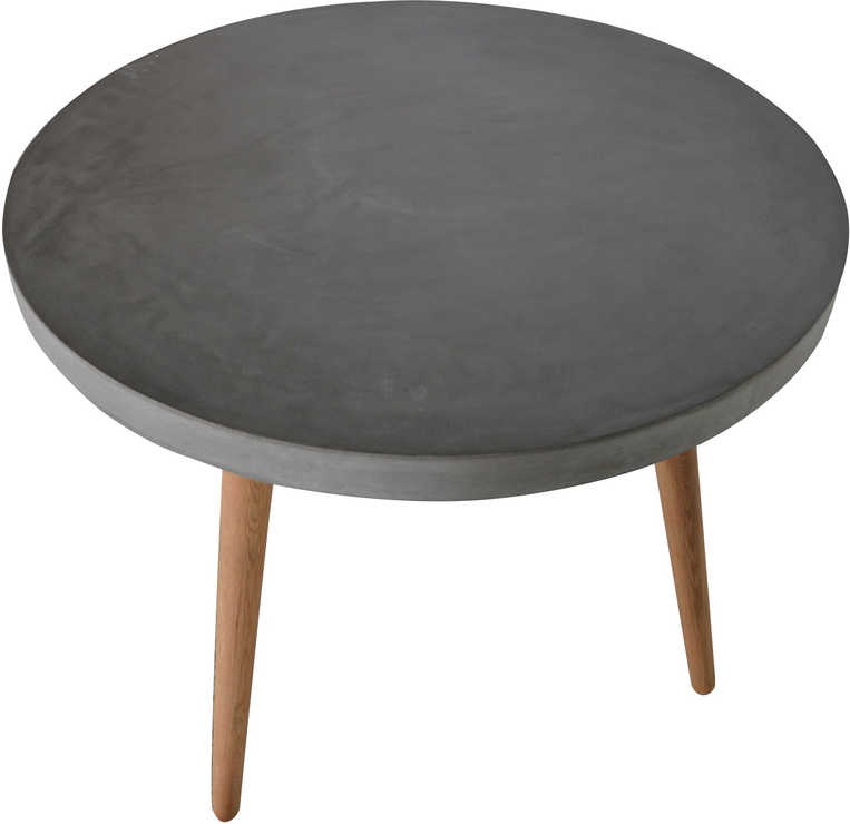 Round concrete top dining table dining tables for Best dining round tables