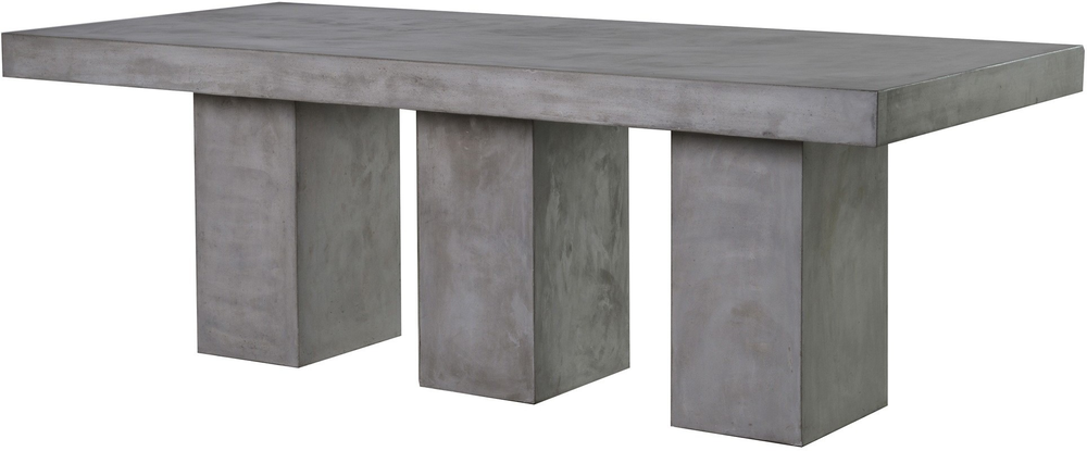 concrete dining table. Rectangular Concrete Dining Table