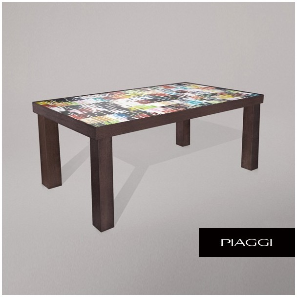 Mosaic Dining Room Table: Fortis Shimmer Dining Table Glass Mosaic Top